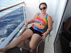 Me on the balcony of the MSC Divina