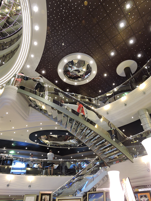 The atrium of the MSC Divina